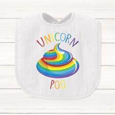 Unicorn Poo Bavoir Bébé Drôle Cadeau Mythique arc en ciel magique