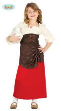 GUIRCA Costume vestito locandiera medievale carnevale bambina mod. 8755_