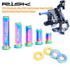 M6 Titanium Road Bike Brake Caliper Nuts with Gasket Caliper Lock Screw Bolts