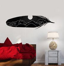 Vinyl Wall Decal Art Home Interior Bird Feather Sky Sun Stickers (2874ig)
