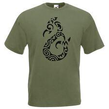 Da Uomo Oliva Manaia Sprit Polinesiano Tatuaggio T-shirt
