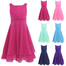 Vestido de Princesa Boda Fiesta sin Manga para Niña Chica Vestido Infantil4-14