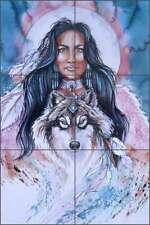 Native Art Tile Mural Jan Taylor Southwest Art Ceramic Backsplash JTA025