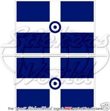 GRIECHENLAND Luftwaffe Flagge GRIECHISCHEN Fahne 100mm Vinyl Sticker Aufkleber