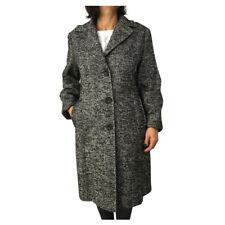 ELENA MIRÒ  cappotto donna spinato bianco/nero lunghezza  cm 107