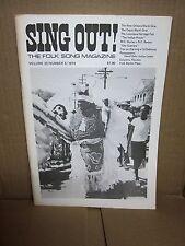 SING OUT Folk Song Magazine 1974 Cajun Mardi Gras Ludlow Massacre Peggy Seeger