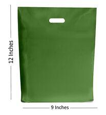 Verde Bolsas de plástico/Regalo Tienda Bolsa/Tienda Boutique - 22.9x30.5cm