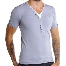 REDBRIDGE BY CIPO & Baxx Camiseta Hombre Gris r-1554