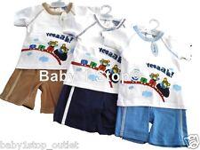 Bambino Pantaloncini Bimbo & maglietta Set Estate Completo 6-12 12-18 18-23 Mesi