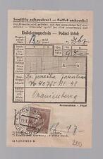 1944 Prerau Germany to Oranienburg Concentration Camp parcel Receipt J Jevreika