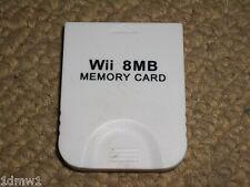 NINTENDO GAMECUBE & WII MEMORY CARD 8 MB 8MB in White Game Cube Mem Card