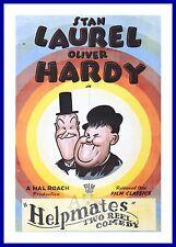 Helpmates    Laurel & Hardy Movie Posters Vintage Classic Films