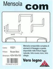 Kit Mensole 3x confezioni mensola componibile vero legno 42x18x15cm Arredo casa