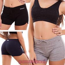 Pantaloncini donna shorts sport dance fitness elastici hot pant sexy nuovi D9981