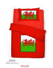 New Red Bedding Welsh Dragon Duvet Quilt Cover Bedding Set Single Double King