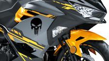Punisher decals (2) Motorcycle body, Sticker Fit Kawasaki Honda Suzuki Yamaha