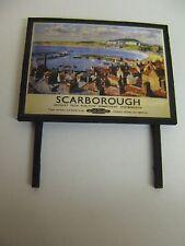 BR - Scarborough - Model Railway Billboard - N & OO Gauge