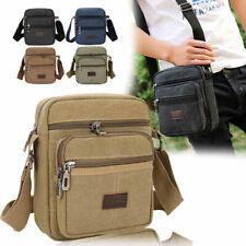 Men Canvas Crossbody Shoulder Bag Outdoor Travel Retro Multi Pockets Casual Bag