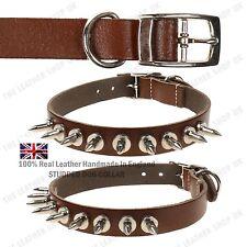 Regolabile Collare Animale Domestico Cane Cuoio Collarino Borchiato Fibbia