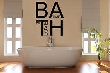 Nos encanta la Hora Del Baño Baño pegatinas de pared arte Habitación Decoración Wc Bat 17
