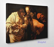 Quadro Caravaggio Incredulità di san Tommaso Stampa su Tela Effetto Dipinto