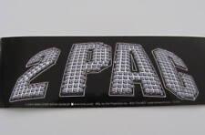2Pac Tupac Shakur Rap Logo Black Silver Name Bumper Music Sticker NEW Rare