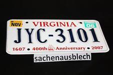 Kennzeichen Nummernschild USA  VirginiaJubiläum Rarität