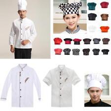 Chef Coat Jackets Long/Short Sleeve Chefs Hat Clothing Chefwear Workwear