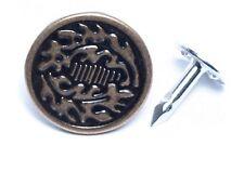 """Jeans Button, Oak Leaf Design 17mm (5/8"""") diameter CHOOSE COLOR choose quantity"""
