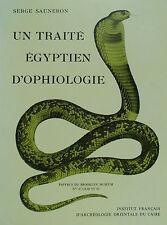 Sauneron - Un traité égyptien d'opiologie -  Kairo 1989