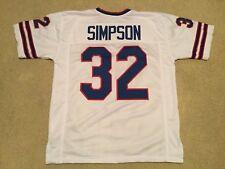 UNSIGNED CUSTOM Sewn Stitched O.J.  Simpson White Jersey - M, L, XL, 2XL