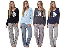 Ladies Pyjama Set Animal Print Long Sleeve Womens Nightwear PJ'S