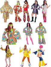 Hippie Flower Power 70er Jahre Peace Karneval Fasching Kostüm 32-48