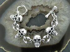 TOTENKOPFARMBAND Silberarmband 25MM BREIT Feingehalt Massiv Silber 925 bracelet