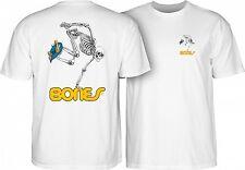 Bones Skateboard Skeleton Skate Powell Peralta T-Shirt WHITE Skull OG L XL XXL