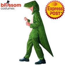 CSW65 Deluxe Dinosaur Dino Jumpsuit Kids Costume Boys Girls Book Week Animal