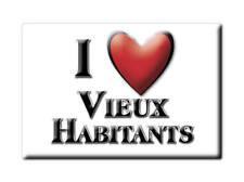 MAGNETS FRANCE - BRETAGNE SOUVENIR AIMANT I LOVE VIEUX HABITANTS (GUADELOUPE)
