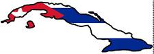"""ADESIVI AUTO CUBA """"Cuba"""" in vinile sticker decal die-cut contorno tagliati"""