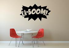 Ka-boom Historieta palabra cotización de acción Casa Hogar Pared Calcomanía Adhesivo O43