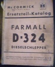 Mc Cormick D-324 Schlepper Ersatzteil-Liste