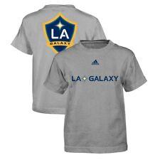 """LA Galaxy Adidas MLS Boys Grey """"Primary One"""" T-Shirt"""