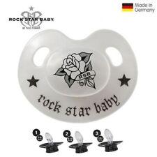 Rock Star Baby Silikon Schlaf Schnuller Slimline Rose RSB
