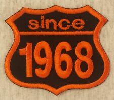 Patch Aufnäher Jahreszahl since 1968 Biker Hot Rod Custom
