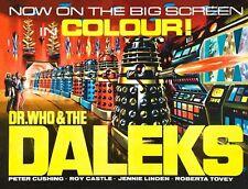 DR Who & I Dalek 1965 film di fantascienza A3/A2 Poster ristampa