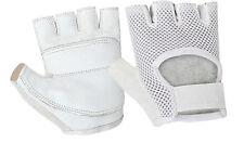 Cycling Gloves MTB Bike Half Finger Crochet Leather Palm Fingerless S M L XL