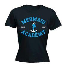 Mermaid ACADEMY University College Simpatico Divertente T-shirt Aderente COMPLEANNO FANTASTICO