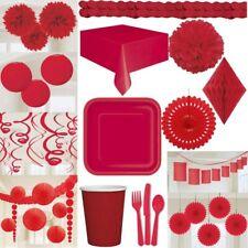 Rote partydeko Wedding Red Party Decoration Valentine's Day Love Plain