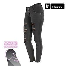 Freddy WR.UP Jeans Skinny Fit WRUP1RH6E N COL. NERO CHIARO EFFETTO STRAPPATO NEW