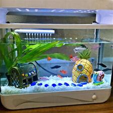 3x Cartoon Aquarium Ornament Spongebob Squidward Pineapple Fish Tank Cave Decor