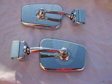 2 SPECCHIO SPECCHIETTO CROMATO DX + SX FIAT 500 D F L R BELLISSIMO TUNING